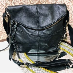 Women The Sak crossbody fold over leather bag